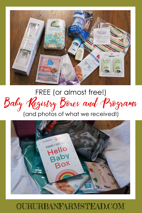 Free Baby Registry Boxes - Our Urban Farmstead
